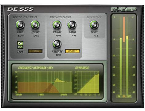 McDSP DE555 De-esser HD Advanced De-essing Plug-In DE555-HD