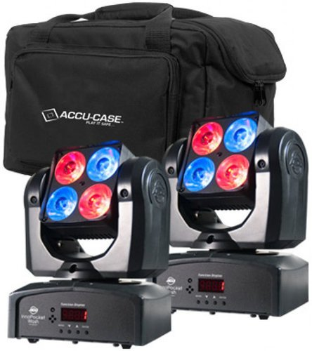 ADJ Pocket Wash Pak Kit with 2x Inno Pocket Wash Moving Head LED Fixtures and F4 Par Bag POCKET-WASH-PAK