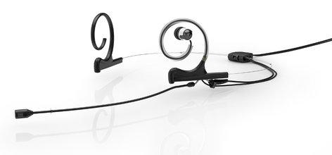 DPA Microphones FID88B00-2-IE1-B d:fine™ 88 In-Ear Broadcast Cardioid Headset Microphone in Black with Dual-Ear Mounts, Single In-Ear Monitor, and 120mm Boom FID88B00-2-IE1-B