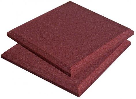 "Auralex SFLAT1114BUR Box of 14 1'x1'x2"" SonoFlat Acoustic Panels in Burgundy SFLAT1114BUR"