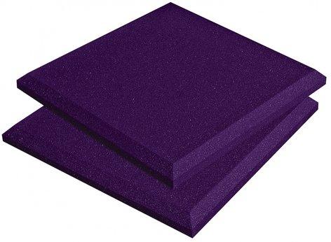 "Auralex SFLAT1114PUR Box of 14 1'x1'x2"" SonoFlat Acoustic Panels in Purple SFLAT1114PUR"