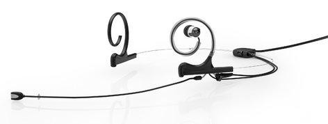 DPA Microphones FIDB00-2-IE1-B d:fine™ In-Ear Broadcast Cardioid Headset Microphone in Black with Dual-Ear Mounts, Single In-Ear Monitor, and 120mm Boom FIDB00-2-IE1-B
