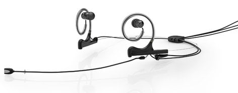 DPA Microphones FIDB00-2-IE2-B d:fine™ In-Ear Broadcast Cardioid Headset Microphone in Black with Dual-Ear Mounts, Dual In-Ear Monitors, and 120mm Boom FIDB00-2-IE2-B