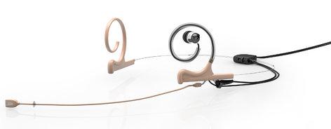 DPA FIDF00-2-IE1-B d:fine™ In-Ear Broadcast Cardioid Headset Microphone in Beige with Dual-Ear Mounts, Single In-Ear Monitor, and 120mm Boom FIDF00-2-IE1-B