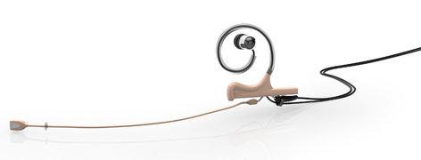 DPA Microphones FIDF00-IE1-B d:fine™ In-Ear Broadcast Cardioid Headset Microphone in Beige with Single-Ear Mount, Single In-Ear Monitor, and 120mm Boom FIDF00-IE1-B