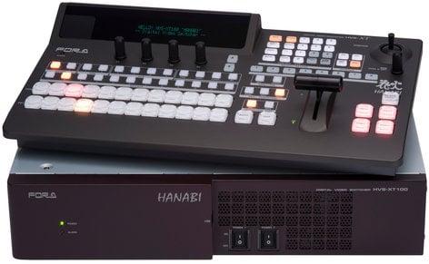 FOR-A Corporation HVS-100-TYPE-A HVS-100 Type A Hanabi XT Switcher 1M/E Switcher with HVS-100OU 12-Button Operation Unit HVS-100-TYPE-A