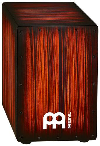 Meinl Percussion HCAJ2RTS Headliner Designer Series String Cajon in Rojo Tiger Striped Finish HCAJ2RTS