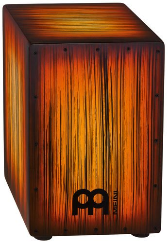 Meinl Percussion HCAJ2AMTS Headliner Designer Series String Cajon in Amber Tiger Striped Finish HCAJ2AMTS