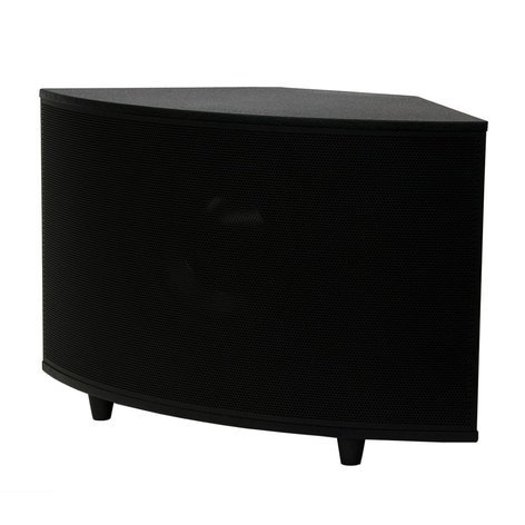 "SoundTube SM1001p 10"" 200W Powered Surface-Mount Subwoofer in Black SM1001P-BK"