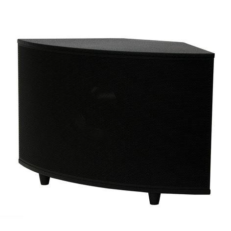"SoundTube SM1001p 10"" 200W Powered Surface-Mount Subwoofer in Black SM1001P-BK"