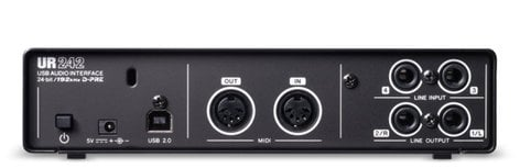 steinberg ur242 4 input 2 output usb 2 0 audio interface with midi i o full compass systems. Black Bedroom Furniture Sets. Home Design Ideas