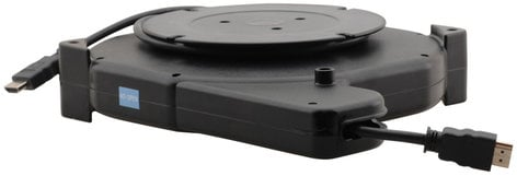 Kramer K-ABLE-DP  3 Foot Furniture-Mounted Retractable DisplayPort Cable Reel K-ABLE-DP