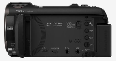 Panasonic HC-V770K 12.76MP HD Camcorder with Wireless Smartphone Twin Video Capture HC-V770K