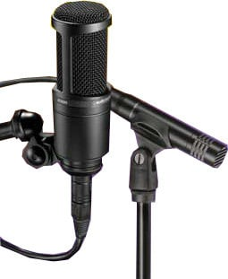 Audio-Technica AT2041/SP Studio Microphone Pack with AT2020 Large Diaphragm Condenser and AT2021 Small Diaphragm Condenser and SONAR LE Recording Software AT2041/SP