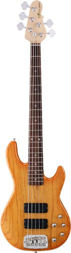 G&L Guitars M-2500 Honey Burst Tribute Series 5-String Electric Bass with Swamp Ash Body and Rosewood Fingerboard M-2500-HB