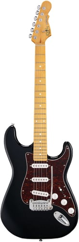 G&L Guitars Legacy Black Tribute Series Electric Guitar with Basswood Body and Maple Fingerboard LEGACY-BLK