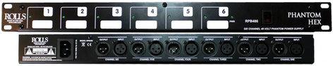 Rolls RPB486 Phantom Hex 6-Channel 48V Phantom Power Supply RPB486