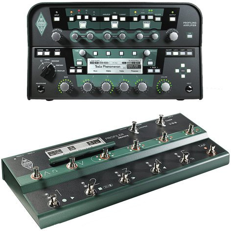Kemper PROFILER+REMOTE-BLAK Profiler + Remote Profiler Amplifier Head in Black with Profiler Remote Foot Controller PROFILER+REMOTE-BLAK