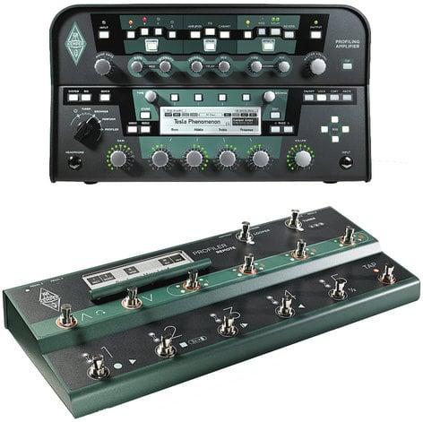 Kemper Profiler + Remote Profiler Amplifier Head in Black with Profiler Remote Foot Controller PROFILER+REMOTE-BLAK