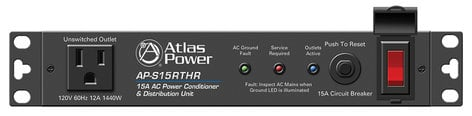 Atlas Sound AP-S15RTHR  15A Half-Rack Power Conditioner with Remote Activation AP-S15RTHR