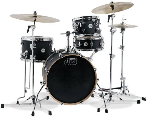 DW DDLM1804TB 4-Piece Design Series Mini-Pro Shell Pack in Tobacco Burst Finish DDLM1804TB