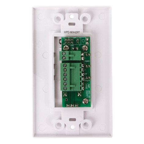 Atlas Sound WPD-MIX42RT  Wall Plate Input Selector with Volume Adjustment for TSD-MIX42RT Mixer WPD-MIX42RT