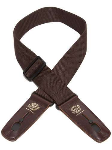 "Lock It Straps LIS 006 P2-BRN/BRN 2"" Brown Polypro Guitar Strap with Brown Locking Ends LIS-006-P2-BRN/BRN"