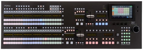 FOR-A Corporation HVS-2000-A Hanabi 3G/HD/SD 2 Full Mix/Effects Video Switcher with Operation Unit Package HVS-2000-A