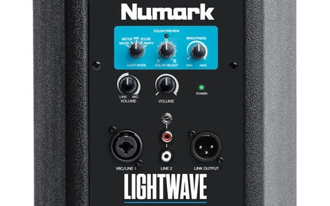 "Numark Lightwave 200W (Peak) Portable Powered DJ Loudspeaker with Dual LED Light Arrays and (3) 6.5"" Woofers LIGHTWAVE"