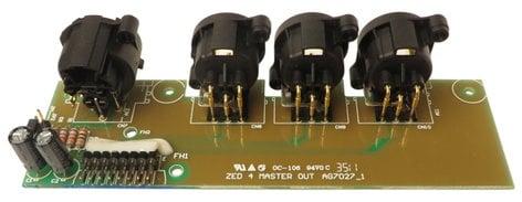 Allen & Heath 003-740  Master XLR Output PCB for ZED 4 Series 003-740