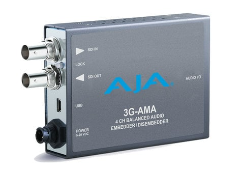 AJA Video Systems Inc 3G-AMA 3G-SDI Analog Audio Embedder/Disembedder 3GAMA