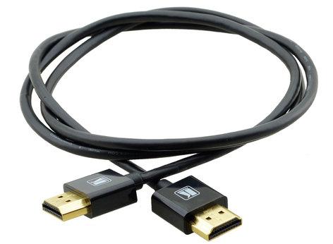 Kramer C-HM/HM/PICO/BK-3 3' Ultra Slim High Speed HDMI Flexible Cable with Ethernet in Black C-HM/HM/PICO/BK-3