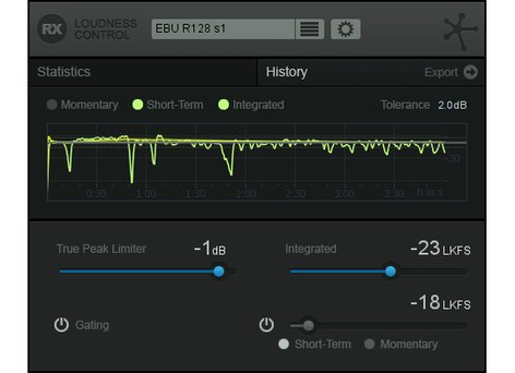 iZotope RX Loudness Control Loudness Compliance Audio Signal Processing Plugin RX-LOUDNESS-CONTROL