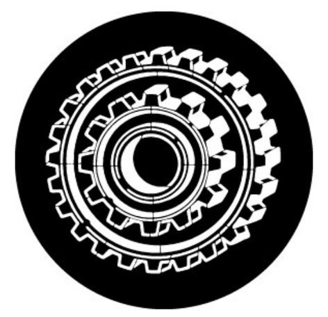 Rosco Laboratories 78647 Gobo Cog Dimensions 78647