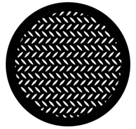 Rosco Laboratories 78443 Steel Gobo - Diamond Grid 78443