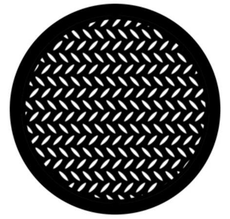 Rosco 78443 Steel Gobo - Diamond Grid 78443