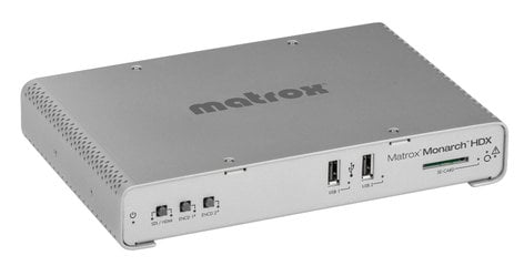 Matrox Monarch HDX Dual-Channel H.264 Encoder with 3G-SDI and HDMI Inputs for Broadcast Streaming and Recording MONARCH-HDX