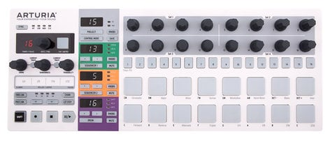 Arturia BeatStep Pro Controller and Performance Sequencer with Dual 64-Step Monophonic Sequencers and 16 Drum Pads BEATSTEP-PRO