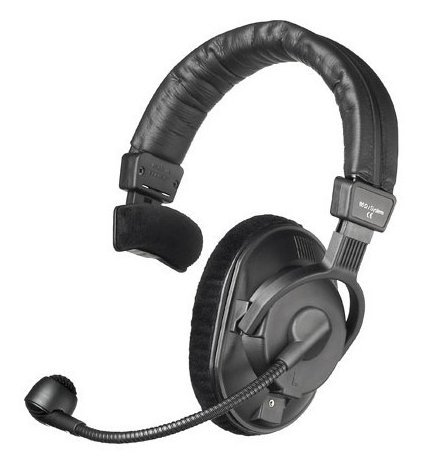Beyerdynamic DT 287 V.11 MKII 80 Ohm Single-Ear Communication Headset for Television Cameras with Built-In Carbon Mic Preamplifier and Condenser Microphone DT287-V11MKII-80