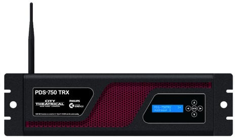 City Theatrical PDS-750 TRX Power/Data Supply for up to 12 CKDMX Fixtures with Max Bandwidth 6500M