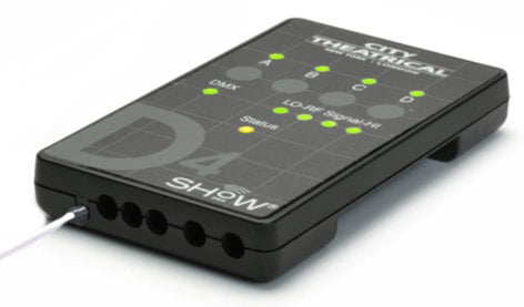 City Theatrical D4 SHoW DMX Neo Dimmer 4 Channel DMX Dimmer Control with Max Bandwidth Technology 5742M