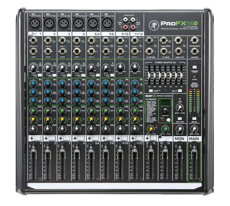 Mackie ProFX12v2 12-Channel Mixer with Onboard Effects Engine and USB I/O PROFX12V2