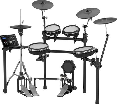 5 Piece Electronic Drum Kit With Mesh Heads 4x Cymbal Pads By