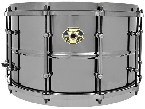 """Ludwig Drums LW0814 8""""x14"""" Black Magic Brass Snare Drum LW0814"""