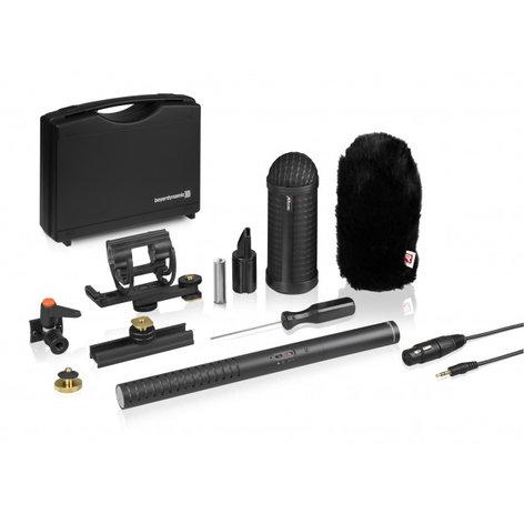 Beyerdynamic MCE85-BA-FULL-KIT MCE 85 BA Full Camera Kit Battery/Phantom Powered Shotgun Condenser Microphone with Rycote Universal Camera Kit MCE85-BA-FULL-KIT