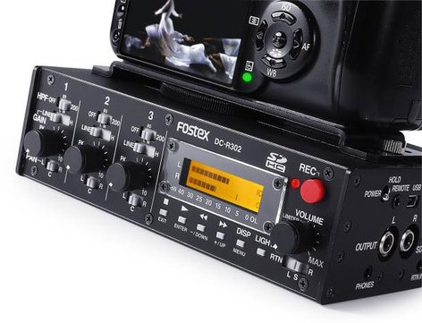 Fostex DC-R302 [B-STOCK MODEL] 3 Channel Portable Audio Mixer / Stereo Recorder DC-R302-B1