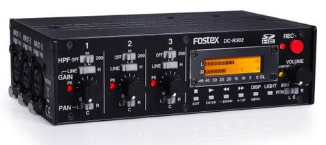 Fostex DC-R302 [MFR-USED RESTOCK ITEM] 3 Channel Portable Audio Mixer/Stereo Recorder DC-R302-B2