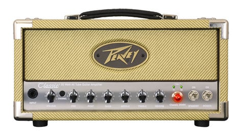 Peavey CLASSIC-20-MH Classic 20 Mini Head 20W Compact Tube Guitar Amplifier Head CLASSIC-20-MH