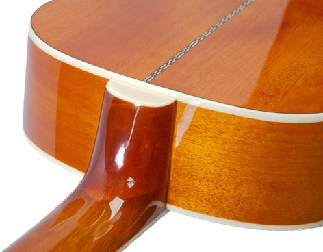 The Loar LH-200-NA Natural Finish Solid Top Small Body Acoustic Guitar LH-200-NA