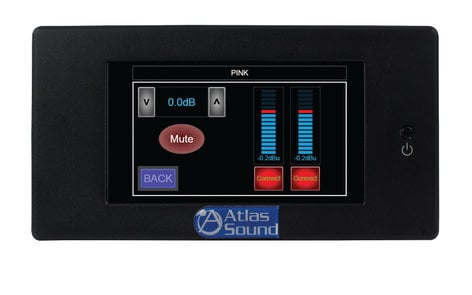 "Atlas Sound BBWP-TOUCH7B  BlueBridge Series 7"" Touch Panel Wall Controller BBWP-TOUCH7B"